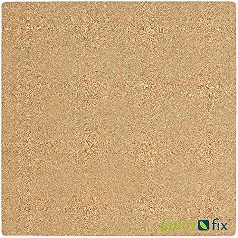 Fancy-fix–Adhesivo para baldosas tablón de corcho natural autoadhesivo decal-11.8in. by conjuntos de 11,8en.