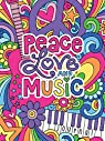 Notebook Doodles Peace Love and Music Guided Journal par Volinski
