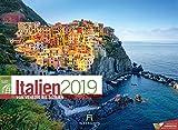 Italien ReiseLust 2019, Wandkalender im Querformat (45x33 cm) - Reisekalender mit Monatskalendarium