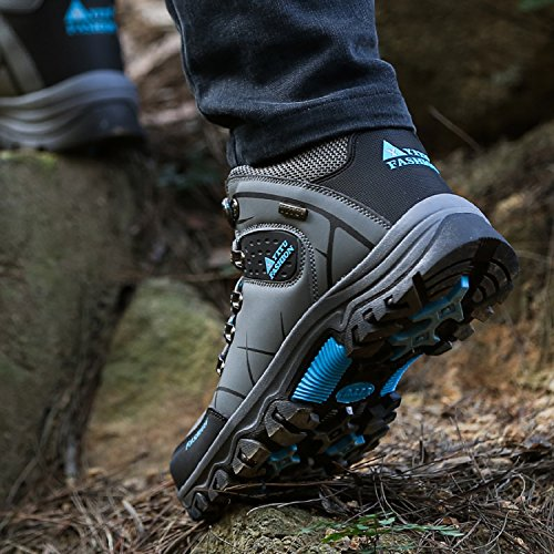 NEOKER Uomo Stivali da Arrampicata Trekking e Escursioni Scarpe Sportive All'aperto Sneakers Army Green Grigio Marrone 39-47 Grigio