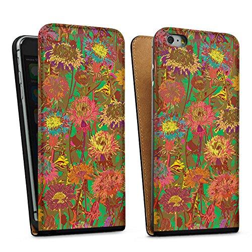 Apple iPhone 5s Housse Outdoor Étui militaire Coque Prairie de fleurs Fleurs Fleurs Sac Downflip noir