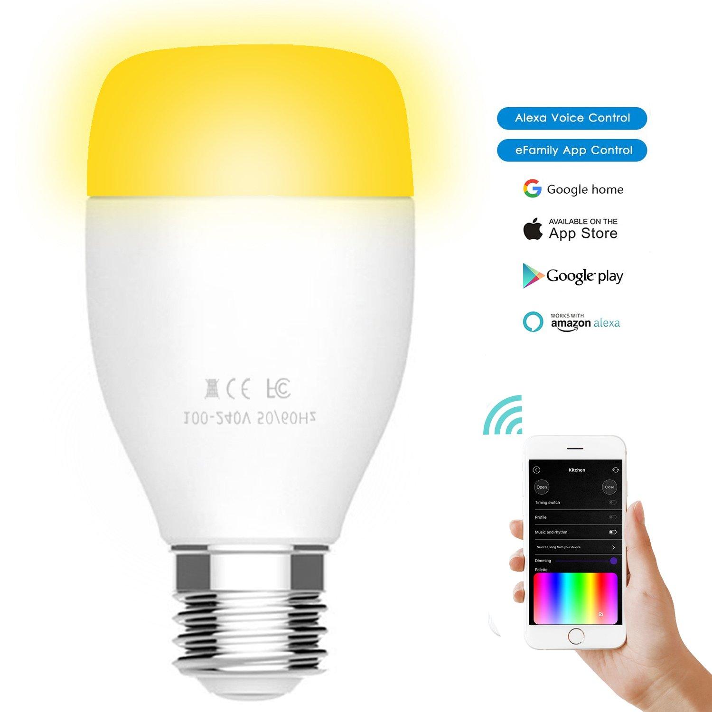 Joso Wifi Smart Bulb Voice Control With Amazon Echo Alexagoogle