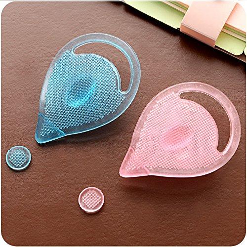 Preisvergleich Produktbild Silikon-Gesichtsreinigung Pads Mitesser Entferner Gesichtsreinigung Pads Pore Reinigungsbürsten Farbe Random / 2 Stück