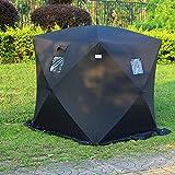 GOTOTOP Tente de Camping Peche Imperméable 2 Personnes 4 Saisons 145 * 145 * 170cm