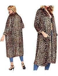 f945a4c0196 ilovgirl Womens Manteau Automne Hiver Chaud Mode Casual Sexy Leopard Print  2019 Nouveau Manteau de Vent Cardigan Long Manteau…