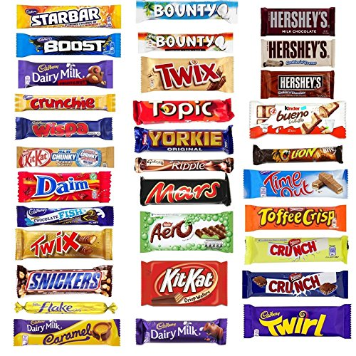 21 x MULTIPACK Chocolate Lovers Assorted Chocolate Box Bar Cadbury Nestle Kids