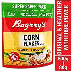 Bagrrys Corn Flakes, 800g (with Extra 80g)