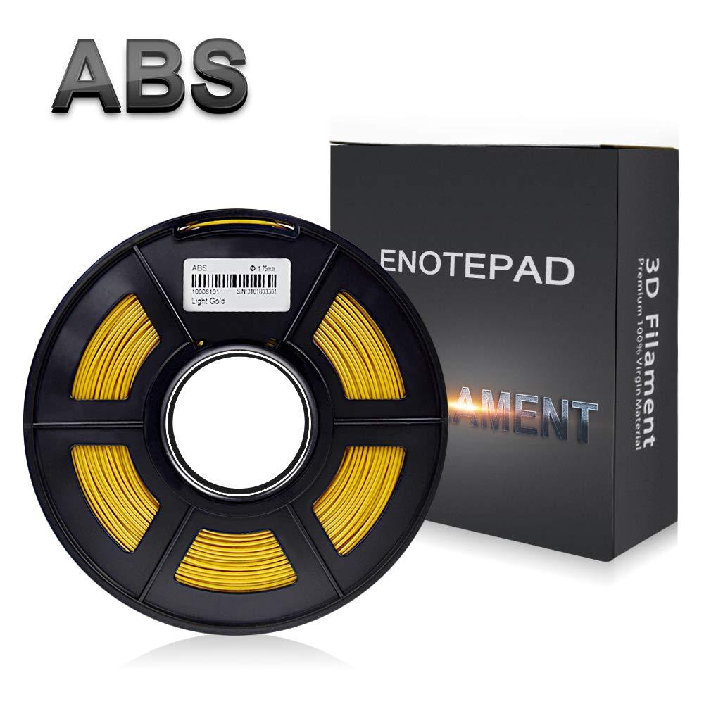 Enotepad Or ABS 3D Filament d'impression,Filament ABS pour imprimante 3D,précision Dimensionnelle +/- 0,02 mm, 1 kg/Bobine, 1,75 mm, Filament ABS pour imprimante 3D