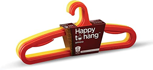 Happy To Hang Officio Polypropylene Hanger, Yellow and Orange