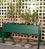 Orti urbani GREENLAND per terrazzi/giardini 120x60x75 cm. Colore: verde