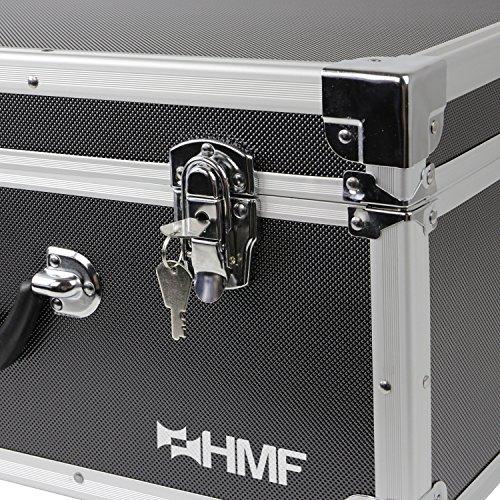 HMF 18601-02 Transportkoffer passend Phantom 3 Standard, Professional, Advanced Drohne, bis zu 5 Akkus, 54 x 38 x 25 cm, schwarz - 3