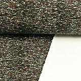 Stoffe Werning Sweatshirtstoff gesprenkelt schwarz rot 180