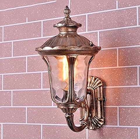 Outdoor Waterproof Wall Lamp Retro Iron Balcony Aisle Terrace Bar Patio Stairs Decoration Wall Lamp Garden External Walls Wall Lamp Single Head E27 Diameter: 24 cm