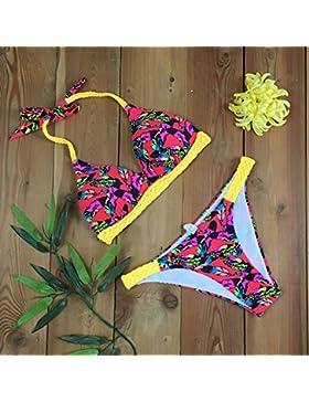 Conjuntos de Bikini Sexy traje de baño Trajes de Baño bañador de adelgazamiento Inyección Directa Digital8082...