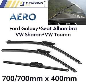 Jurmann Trade Gmbh 3er Komplett Set Aero Scheibenwischer Vorne 700 700mm Hinten 400mm Auto