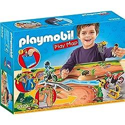 Playmobil Pilotes Motocross avec Support de Jeu, 9329