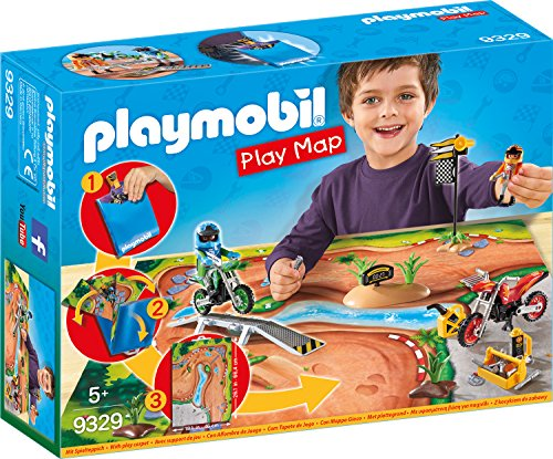 PLAYMOBIL- Play Map Motocross Juguete