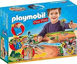 Playmobil- Play Map Motocross Juguete, (geobra Brandstätter 9329)