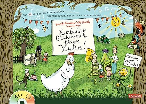 sch, kleines Huhn!: eddi präsentiert: Die 24 schönsten Kinderlieder zum Anschauen, Hören und Mitzwitschern! - Buch mit CD ()