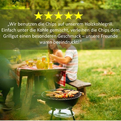61R0LgXEpyL - BBQ Räucherchips Mix für tolles Raucharoma beim Grillen - 100% natürliches Smoker-Holz | Ergiebige und sparsame wood chips (Apfel, Buche & Kirsche) für Stand- und Kugel-Grill sowie Smoker | 3 x 500g
