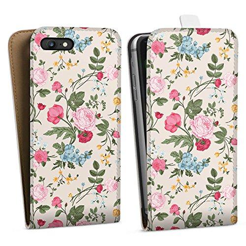 Apple iPhone X Silikon Hülle Case Schutzhülle Blumen Muster Bunt Downflip Tasche weiß