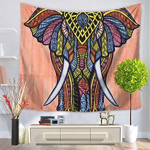 andala-Bunte Elefant Bedruckte Tapisserie-Wandbehang Strand Wurfmatte Hippie-Bettdecke-Yoga-Matten-Decke, 150cmx130cm, O23 ()