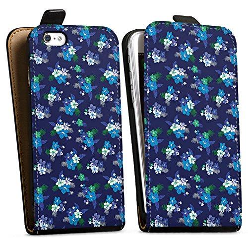 Apple iPhone X Silikon Hülle Case Schutzhülle Flower Blumen Muster Downflip Tasche schwarz