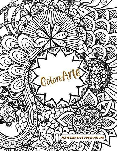 ColoreArte: Libro de adultos para colorear, Mandalas, Animales, Antiestres, Relajante