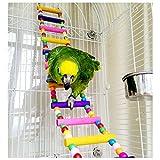 1PCS legno Parrot uccello Ladder Toy persico gabbia giocattolo per Pappagallini African Greys pappagallo parrocchetto Cockatiel