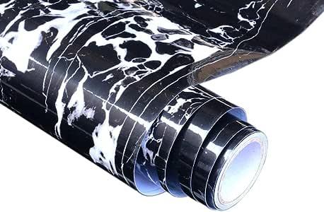 Maritown Effet de marbre Auto-adh/ésif PVC Papier Peint Brillant Vinyle Meubles r/énov/é Pierre /à Motifs Autocollant pour la Cuisine /à Domicile Bricolage 23.6x78.7inch
