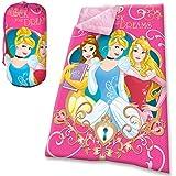 Kids Euroswan Saco de Dormir con Diseño Princesas, Poliéster, Rosa, ...