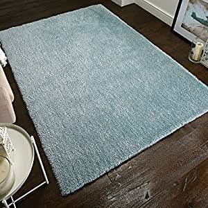 flair rugs grande vista shaggy tapis faits la main bleu canard 60 x 110 cm. Black Bedroom Furniture Sets. Home Design Ideas