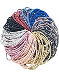 Evolution Rubberbands Thick Shiny Multicolored, Hair Bands, Hair Ties For Women/Girls (Pack Of 100)