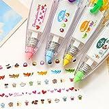 Saflyse Lot de 4stylos type rubans correcteurs pour appliquer de jolis motifs de décoration Pour les enfants Décorations pour loisirs créatifs & dessin & bricolage