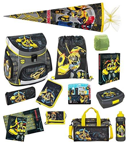 Transformers Schulranzen Set 20tlg. mit Federmappe, Sporttasche, Schultüte 85cm Regen-/Sicherheitshülle TFUV8252