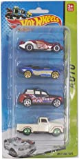 Tickles Multicolor Speed Sports Car Set of Four Toy 7 cm