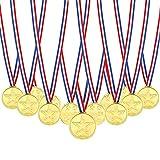 Pllieay 72 Pezzi Medaglie Oro Plastica Winner Medaglie per Bambini Sport Giorno, Festa, Concorso, Giochi Di Partito Giocattoli, Premi