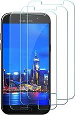 [3 Stück] Samsung Galaxy A5 2017 Panzerglas Schutzfolie, gehärtetes Glas Displayschutzfolie, 9H gehärtetes Glas, Antikratz, Bläschenfrei, Glas 0.3mm, HD-Klar, Anti-Bläschen, Anti-Öl, Transparent.