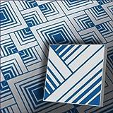1m² Zementfliesen dekorative orientalische blaue Fliesen Geomet 124_1 marokkanische Fliesen