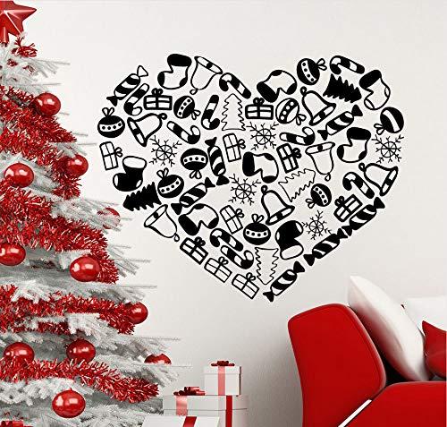 Knncch Candy Wandtattoo Vinyl Weihnachtsgeschenk Aufkleber Aufkleber Abnehmbare Innen Vinyl Aufkleber Weihnachten Urlaub Dekor Wandtattoo70X57Cm
