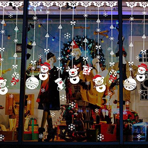 Natale Vetrofanie Rimovibile Adesivi Murali Fai da te Finestra Decorazione Vetrina Wallpaper Adesivi