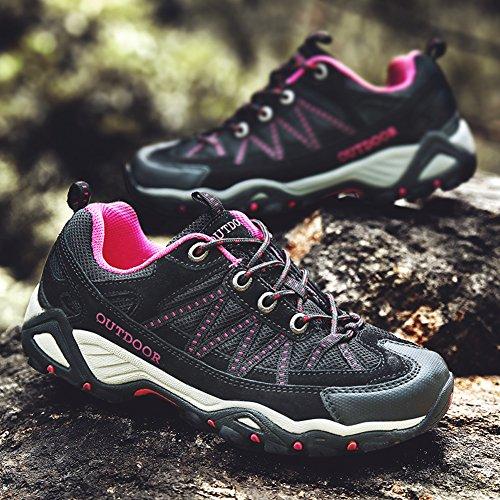 Schwarz Trekking Klettern Frauen Breathable Antiskid Outdoor Wandern Schuh Unisex Paar Schuhe Männer PcE6Rq