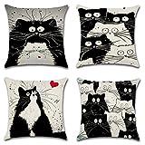 4 pezzo gatti anime catena di cuscino coperchio cuscino di lusso della casa del divano della cuscini della coperta 45x45cm 18X18 pollici
