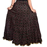 Decot Paradise Women's A-Line Skirt (DL3060_Black_Free Size)