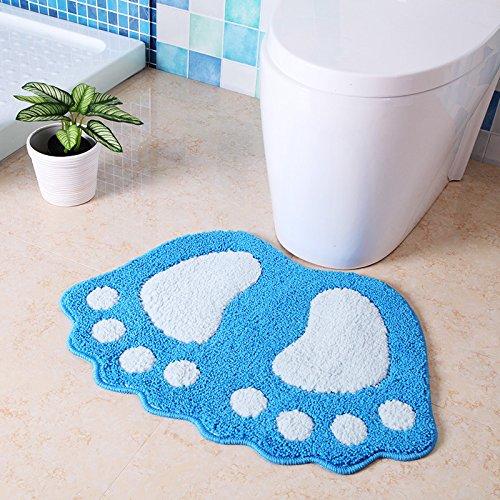 YIWAN Größe Knöchel Bad Antirutschmatte Teppich WC Wasser Antirutschmatte blau 48x67cm (Große Schokolade-bad-teppich)