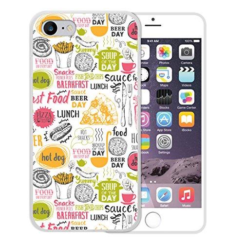 WoowCase Hülle Case für [ iPhone 7 ] Handy Cover Schutzhülle Schuhe Kamera Brille Stern Housse Gel iPhone 7 Transparent D0406