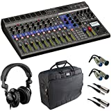 Zoom LiveTrak L-12 - 12-Channel Digital Mixer & Multitrack Recorder with Case Cables and Headphone
