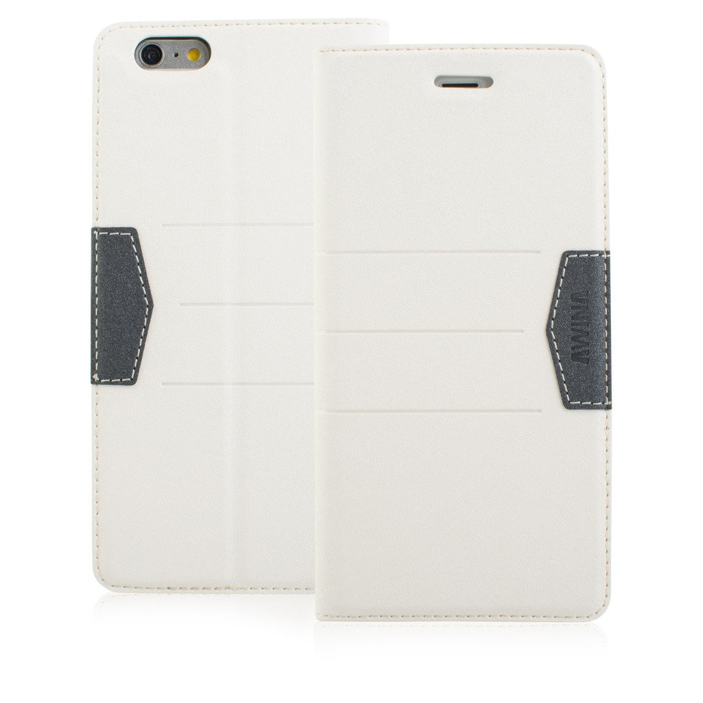 New Style Apple iphone 5 Case cover, Apple iPhone 5 White Designer Style Wallet Case Cover