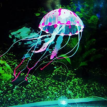 Pink Glowing Effect Artificial Fake Jellyfish for Fish Tank Decoration Ornament 8