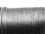 Polyesterkordel gewachst in dunkelgrau 1mm 10m von Vintageparts, DIY-Schmuck